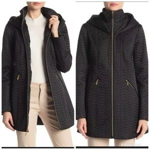 Laundry by Shelli Segal Quilted Hooded Jacket XS